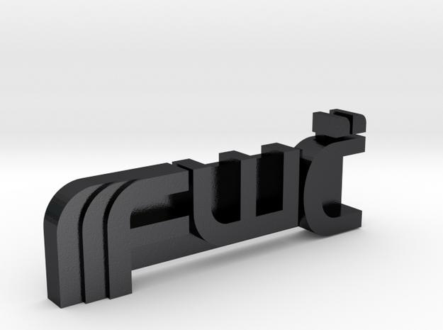 Future War Cult Personal Emblem in Polished Grey Steel