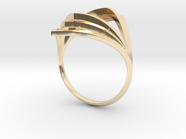 V Ring in 14K Yellow Gold