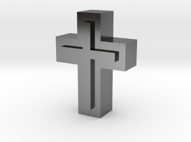 Cross1  in Polished Silver
