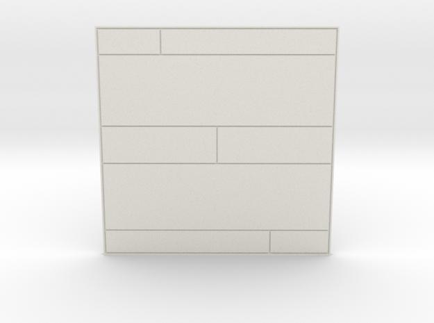 Corridor Floor 001 in White Natural Versatile Plastic