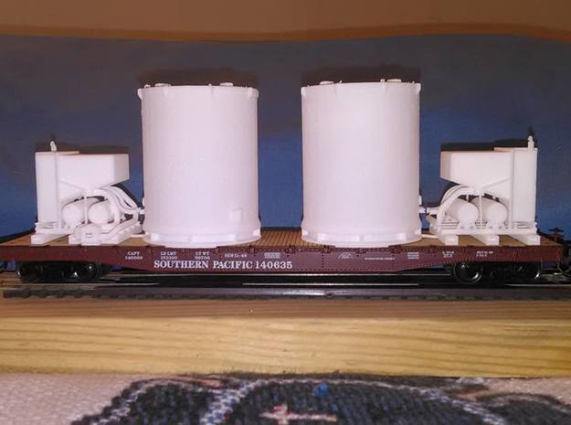 HO 1/87 Titan Rocket container & A/C unit x2 in Smooth Fine Detail Plastic