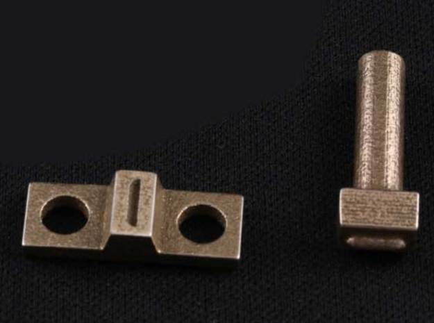 6mm Miniature Louvre Die Set in Polished Bronzed Silver Steel