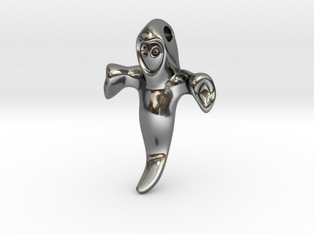 Ghost Pendant in Premium Silver