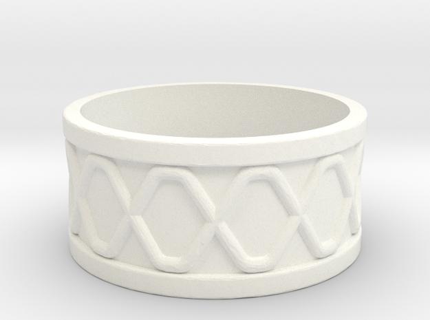 Lightsaber Ring3 in White Processed Versatile Plastic