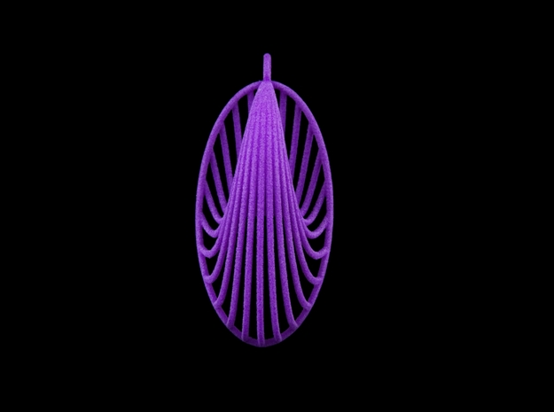 Quark Pendant - Truth (1wBmOM) in Purple Processed Versatile Plastic