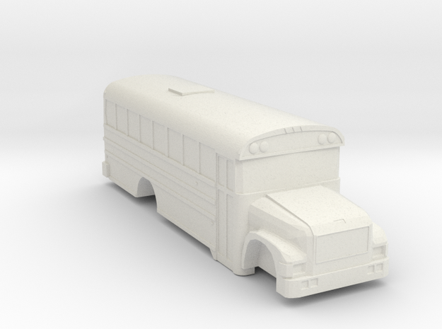 ho scale BB international 3800 school bus (short) in White Natural Versatile Plastic