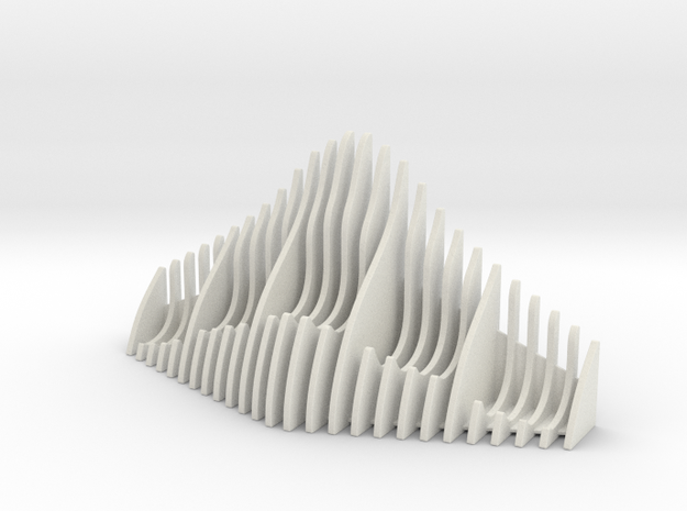Watch Display in White Natural Versatile Plastic