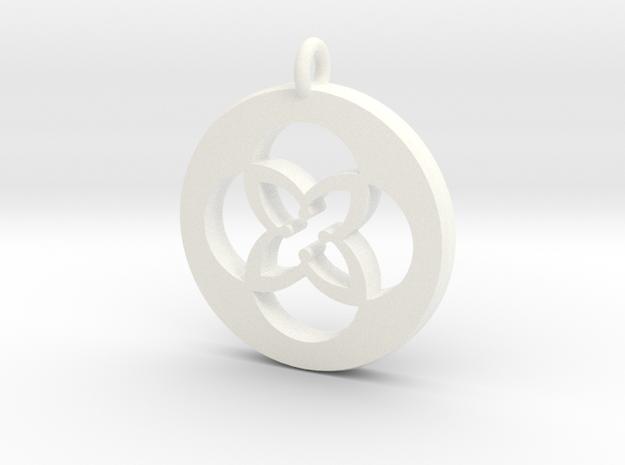 TU Pendant Plastic in White Processed Versatile Plastic
