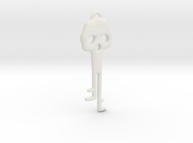 Skeleton Key Necklace in White Natural Versatile Plastic