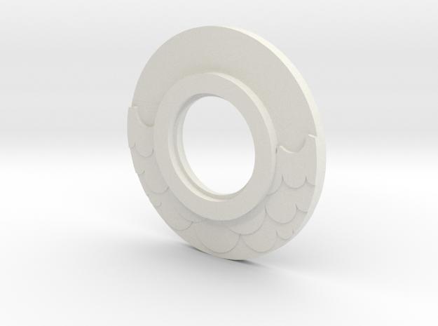MHS compatible Water Tsuba in White Natural Versatile Plastic