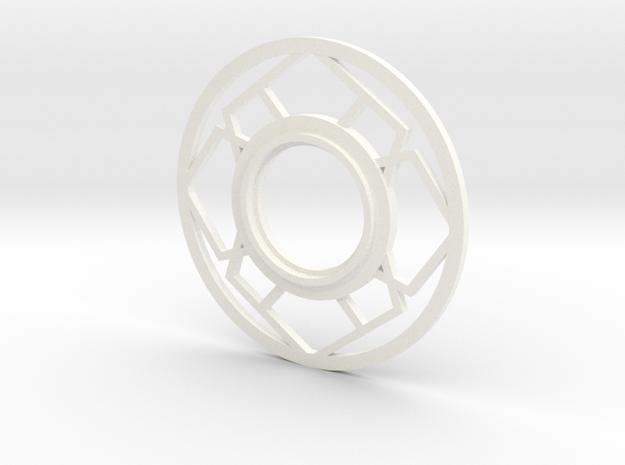 MHS compatible Japanese Tsuba in White Processed Versatile Plastic