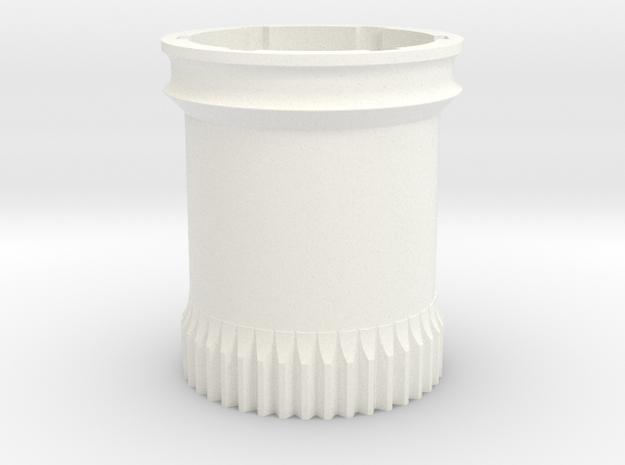 Fleksibilen Zobnik in White Processed Versatile Plastic