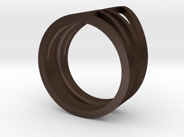 Ring3541 Geo Stack Size6 Van K Le Love And Keep 3d printed