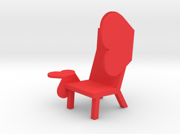 'EMOJI CHAIR - WING' by RJW Elsinga 1:10 in Red Processed Versatile Plastic