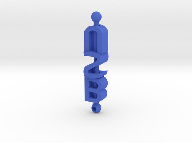 BSU Keychain in Blue Processed Versatile Plastic
