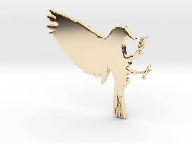 Bird Pendant in 14K Yellow Gold