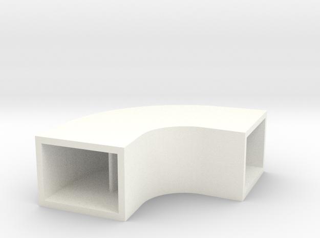 Radius Elbow in White Processed Versatile Plastic