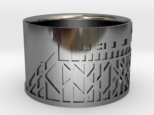 Ring SPO 01 (size 63 / US 9 / diam. 20mm) in Premium Silver