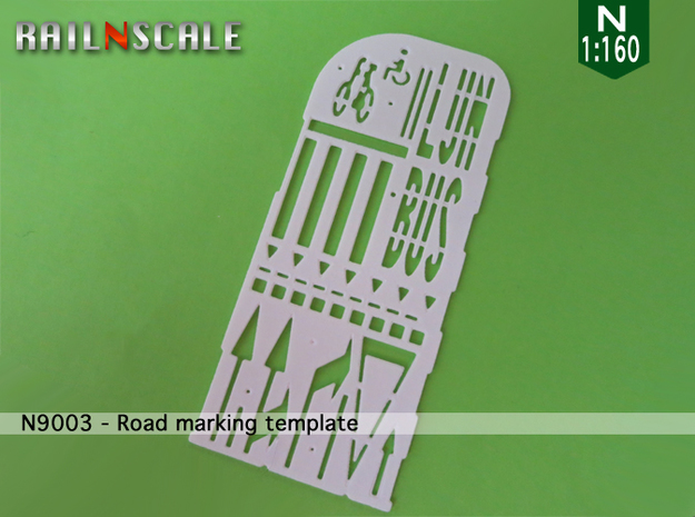 Road marking template BNL (N 1:160) in White Strong & Flexible