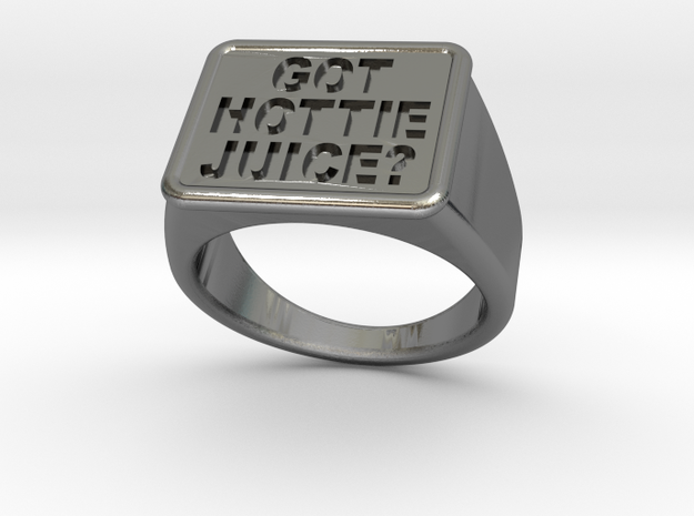Got Hottie Juice? Ring in Polished Silver