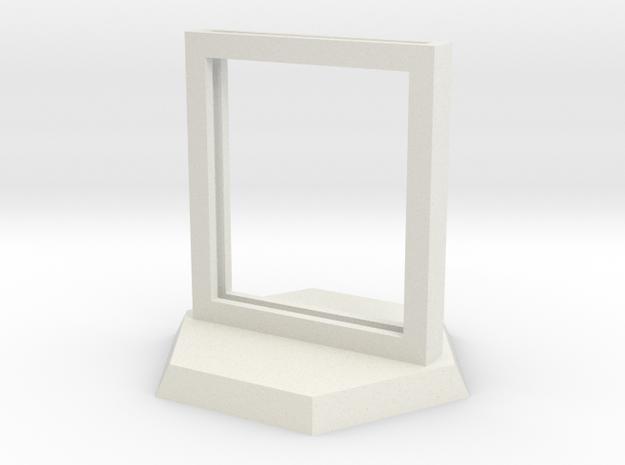 "Paper Insert Miniature Stand 1"" (Hex Base) in White Natural Versatile Plastic"