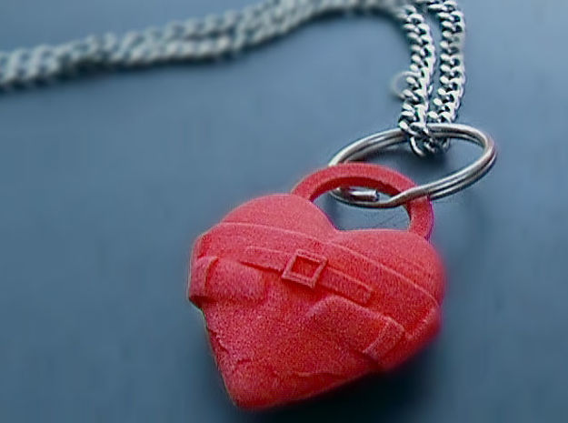 Crazy For Love Pendant in Red Processed Versatile Plastic
