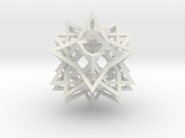 Tetrahedron 8 Compound in White Natural Versatile Plastic
