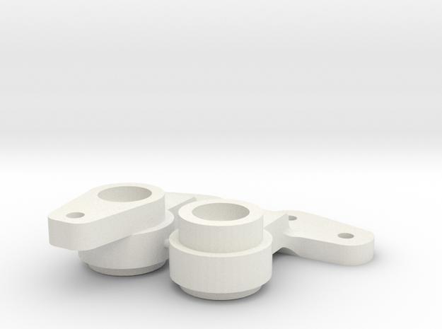 RC10 Bellcranks in White Natural Versatile Plastic