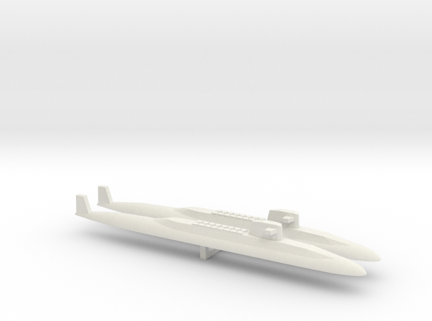 USS Lafayette SSBN x 2, 1/2400 in White Strong & Flexible