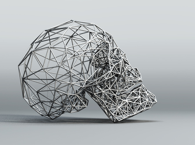 Wireframe Skull 3d printed