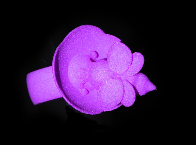 The Bee & The Flower - Ring - Size56 - diam 17,8mm in White Natural Versatile Plastic