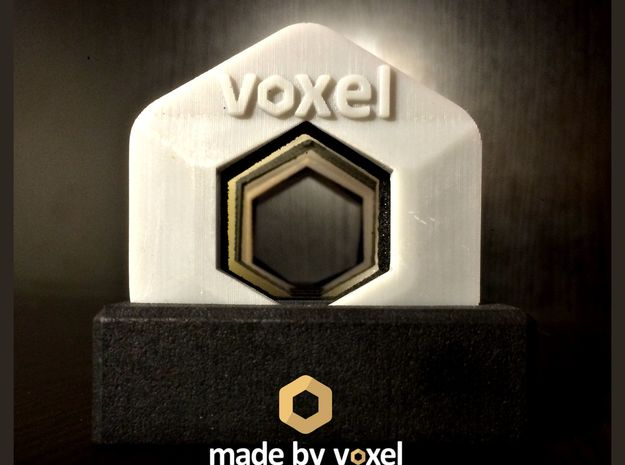 Voxel Material Sample Stand in White Natural Versatile Plastic