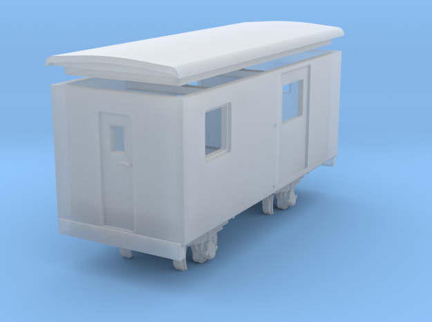 Goods van / carro chiuso H0e - freelance  in Smooth Fine Detail Plastic