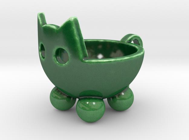 Kit Tea Kup in Gloss Oribe Green Porcelain