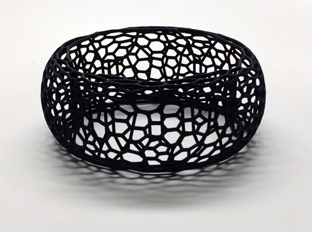Honeycomb Bangle in Black Strong & Flexible: Small