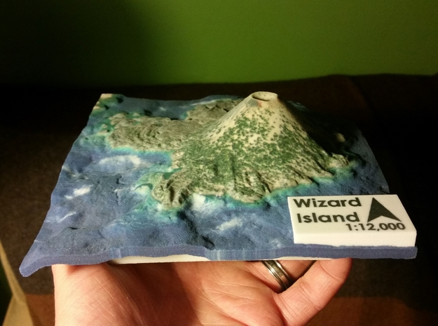 Wizard Island Map