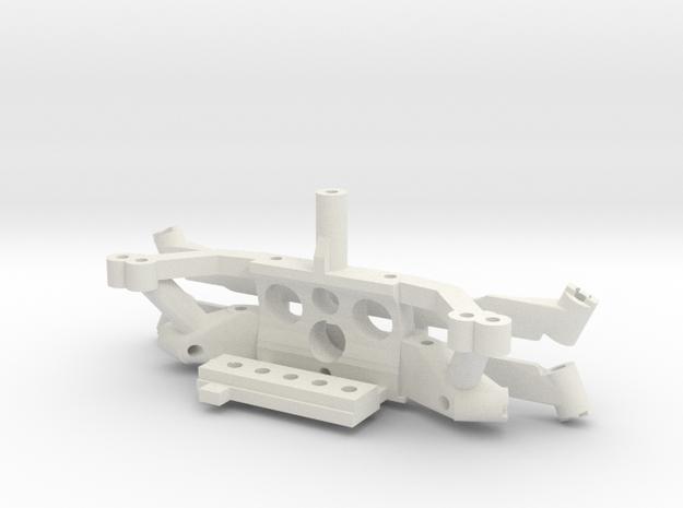 Subchassis V7 motor mount plastic parts in White Natural Versatile Plastic
