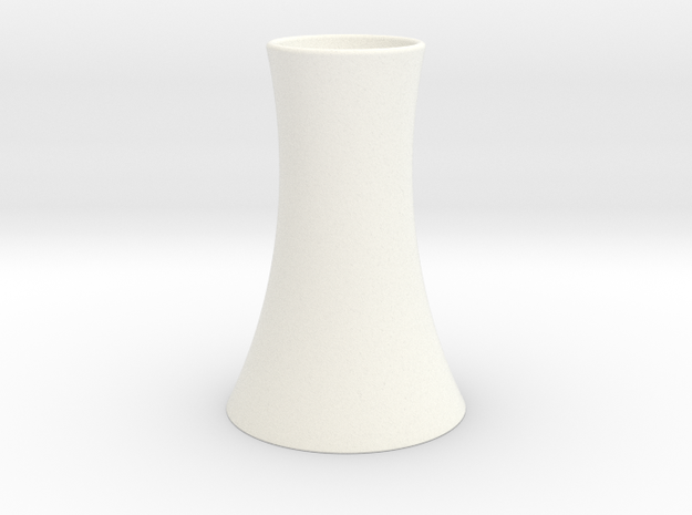 Vase 2 in White Strong & Flexible Polished