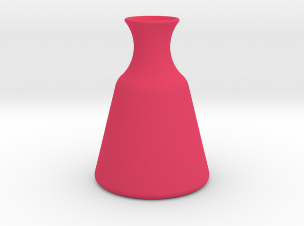 Vase 3 H in Pink Strong & Flexible Polished