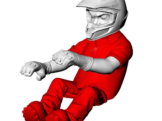WW10006 Wild Willy Glamis driver Body  3d printed Purchase only includes red part. See link below to purchase the complete figure