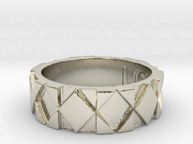 Futuristic Rhombus Ring Size 6 in 14k White Gold