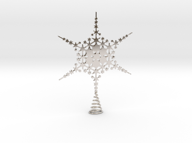 Sparkle Snow Star - Fractal Tree Top - HP3 - S