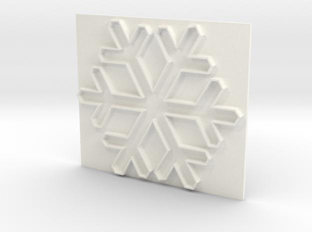 Snowflake1 in White Processed Versatile Plastic