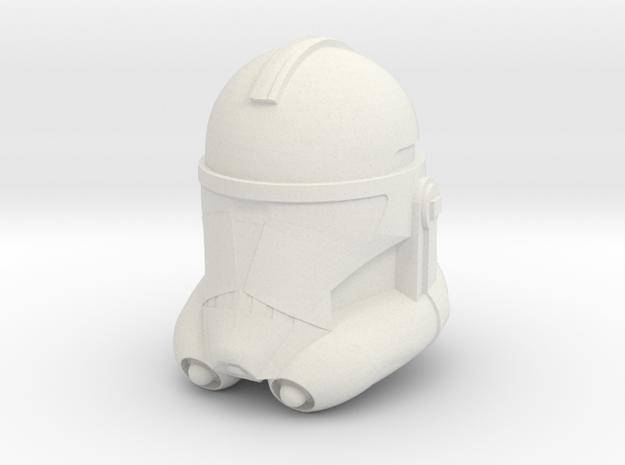 "Clone Trooper Helmet 4"" in White Natural Versatile Plastic"
