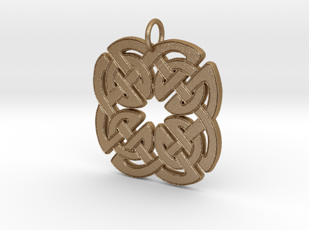 Four Knot Pendant in Matte Gold Steel
