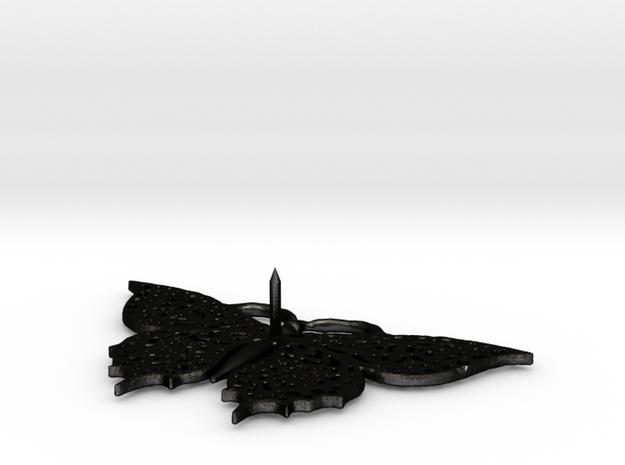 Schmetterling Devaranne (with pin) in Matte Black Steel