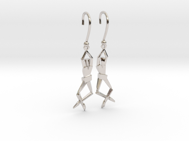 HUMANIS ALPHA ::: EARRINGS in Rhodium Plated Brass