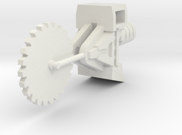 Ratchetrooper Weapon 01 - Circular Saw in White Natural Versatile Plastic