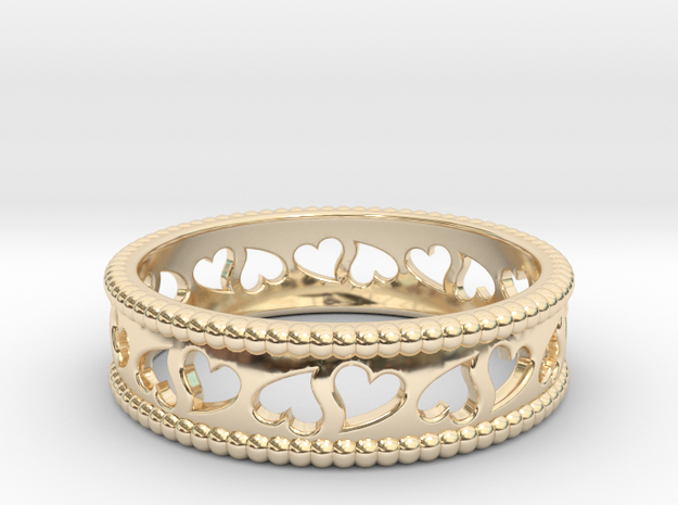 Size 9 Hearts Ring A