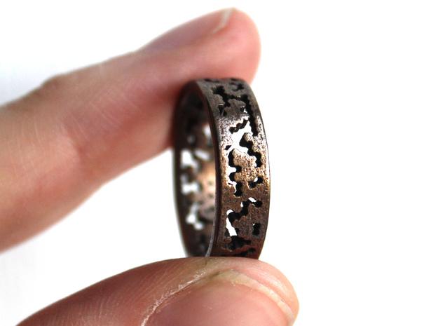 Math Pattern Ring (hex37) sz 8.25 3d printed